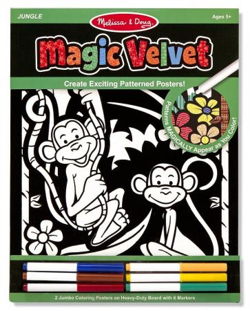Poster de desenat Catifeaua Magica Jungla Melissa and Doug1