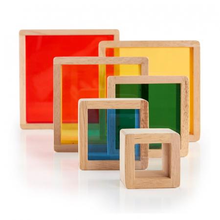 Rainbow Pyramid blocuri de stivuit - Guidecraft2