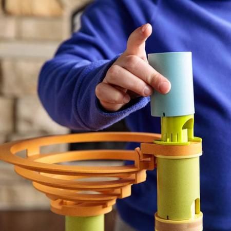 Rollercoaster din bambus cu bile9