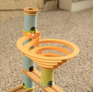 Rollercoaster din bambus cu bile3