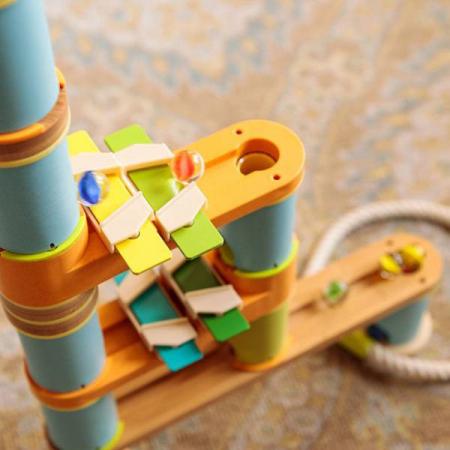 Rollercoaster din bambus cu bile10