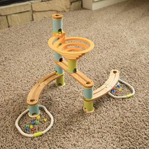 Rollercoaster din bambus cu bile4