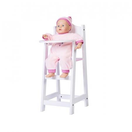Scaun inalt pentru papusi, alb, MamaMemo2