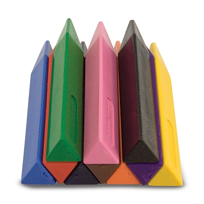 Set 10 creioane groase trunghiulare Melissa and Doug3