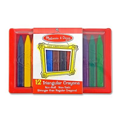 Set 12 creioane triunghiulare Melissa and Doug2