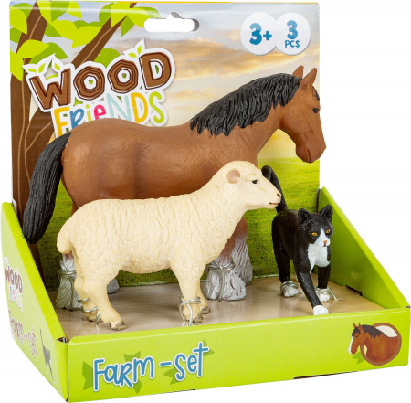 Set 3 figurine Animale de la Ferma1