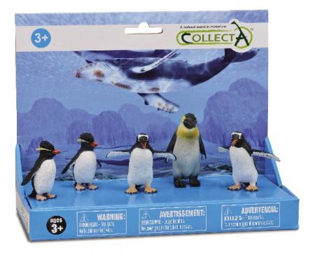 Set 5 figurine Pinguini - Collecta0
