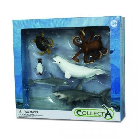 Set 6 figurine viata acvatica Collecta1