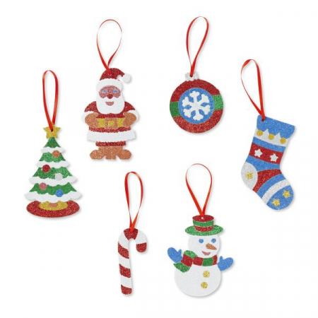 Set creatie cu sclipici Ornamente de Craciun Melissa and Doug2