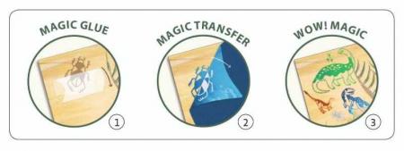 Set creativ transfer Djeco, Dinozauri1