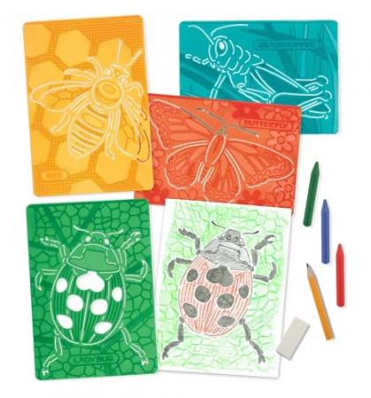 Set de sabloane texturate Insecte Melissa and Doug1
