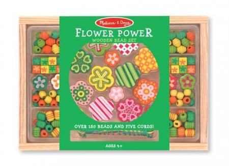 Set margele din lemn Flower Power Melissa and Doug1