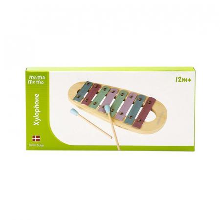Xilofon jucarie muzicala din lemn, culori pastelate, MamaMemo1
