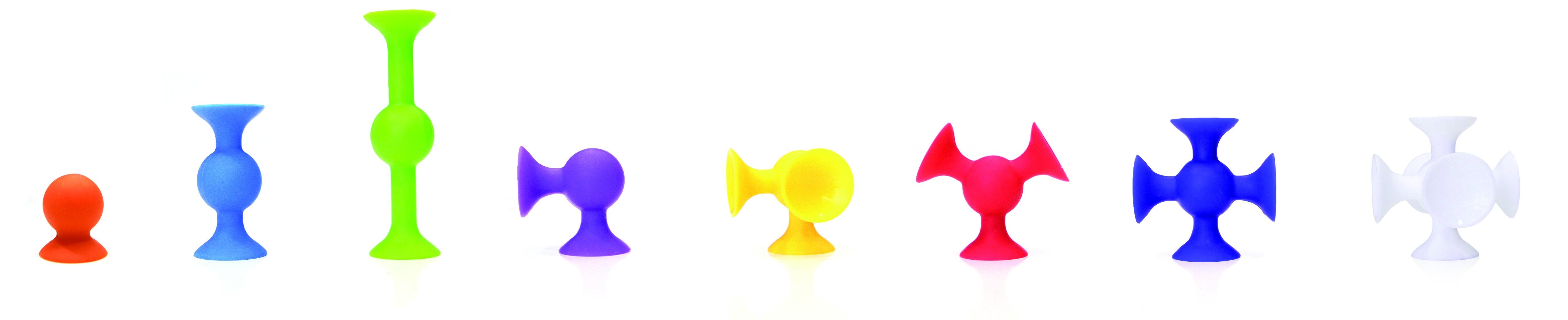 Joc de constructie Squigz Flexi Set - Fat Brain Toys 1