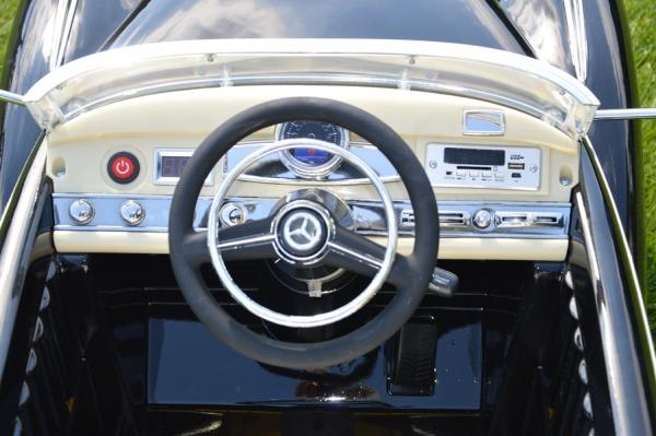 Mercedes 300S OldTimer, negru pentru copii 2-6 ani [3]