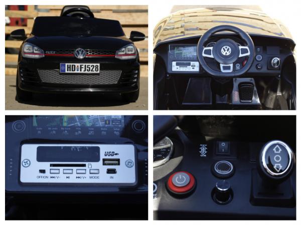 Masinuta electrica pentru copii VW Golf GTI negru 8