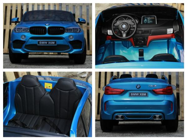 Kinderauto BMW X6M 12V XXL PREMIUM #Albastru 6