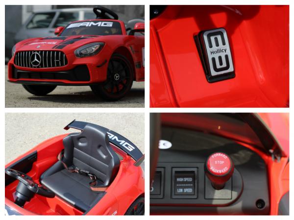 Masinuta copii electrica Mercedes GT-R AMG, rosie, 2x25W 6