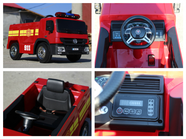 Masinuta electrica Pompieri Fire Truck Hollicy STANDARD #RED 7