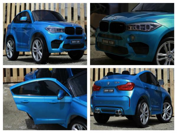 Kinderauto BMW X6M 12V XXL PREMIUM #Albastru 7