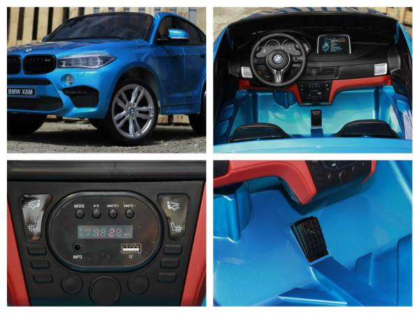 Kinderauto BMW X6M 12V XXL PREMIUM #Albastru 8