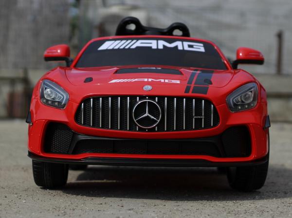 Masinuta copii electrica Mercedes GT-R AMG, rosie, 2x25W 1