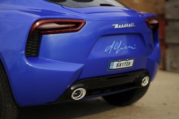Masinuta electrica Maserati Alfieri 12V 2x35W CU ROTI MOI #Albastru 3