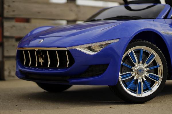 Masinuta electrica Maserati Alfieri 12V 2x35W CU ROTI MOI #Albastru 4