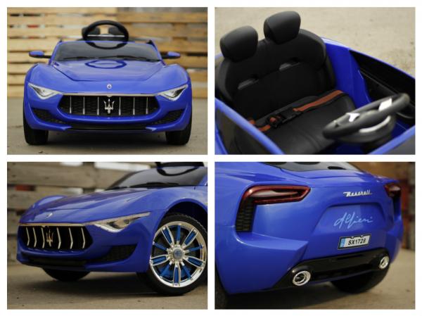 Masinuta electrica Maserati Alfieri 12V 2x35W CU ROTI MOI #Albastru 5