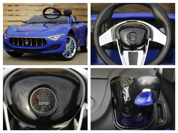 Masinuta electrica Maserati Alfieri 12V 2x35W CU ROTI MOI #Albastru 6
