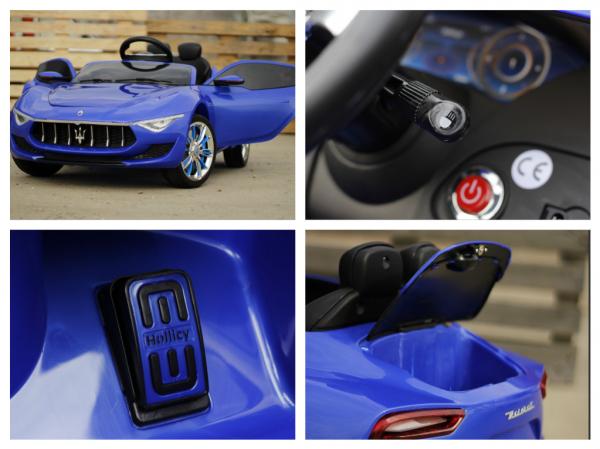 Masinuta electrica Maserati Alfieri 12V 2x35W CU ROTI MOI #Albastru 8