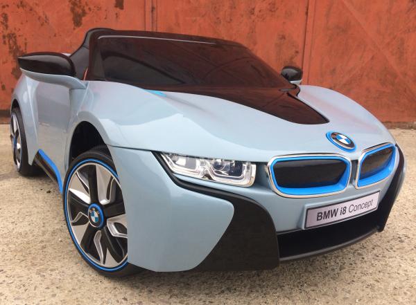 Masinuta electrica copii 2-7 ani BMW i8, albastru [1]