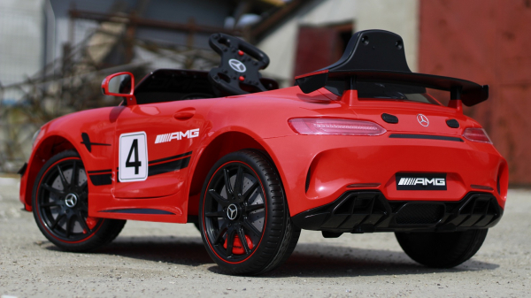 Masinuta copii electrica Mercedes GT-R AMG, rosie, 2x25W 2