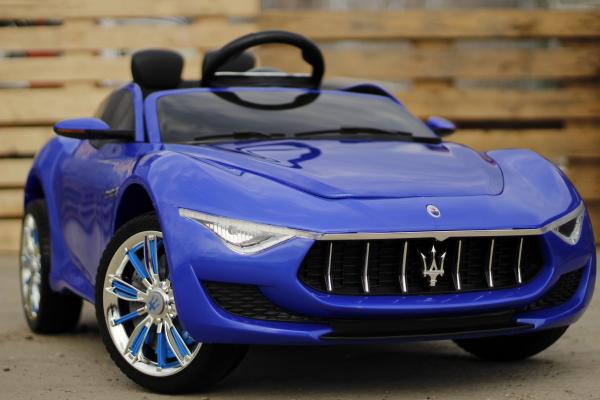 Masinuta electrica Maserati Alfieri 12V 2x35W CU ROTI MOI #Albastru 2