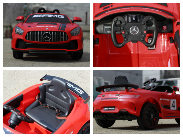 Masinuta copii electrica Mercedes GT-R AMG, rosie, 2x25W 8
