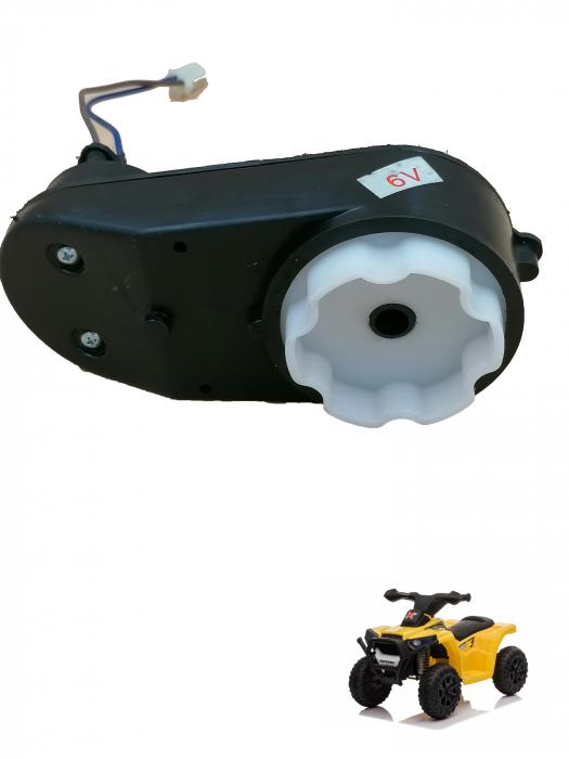 Motoras electric si reductor 6V pentru atv 0