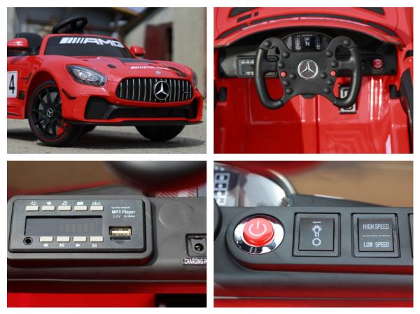 Masinuta copii electrica Mercedes GT-R AMG, rosie, 2x25W 7