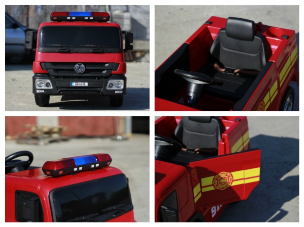 Masinuta electrica Pompieri Fire Truck Hollicy STANDARD #RED 8