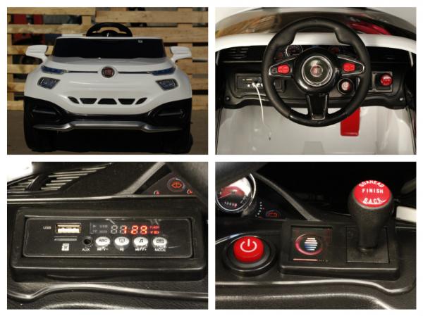 Masinuta electrica Fiat FCC4 2x25W 12V STANDARD #Alb 6