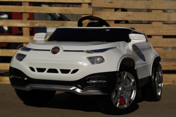 Masinuta electrica Fiat FCC4 2x25W 12V STANDARD #Alb 1