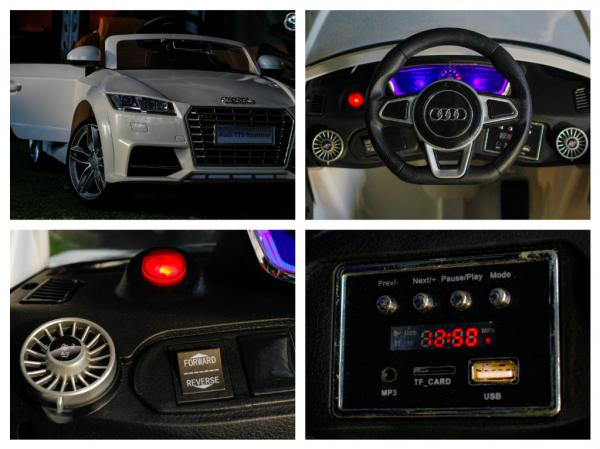 Kinderauto Audi TTS 2x 30W 12V PREMIUM #Alb 8