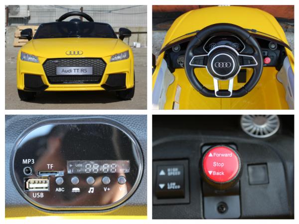 Kinderauto Audi TT RS 2x 30W STANDARD 12V #Galben 7