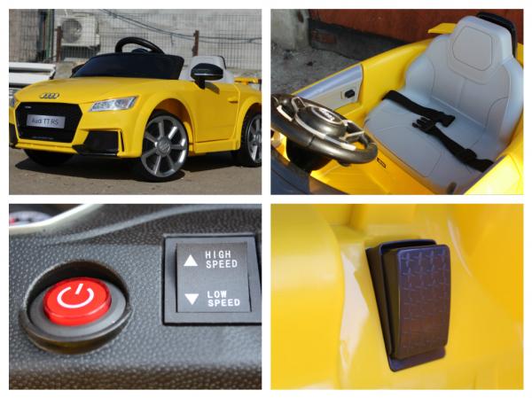 Kinderauto Audi TT RS 2x 30W STANDARD 12V #Galben 8