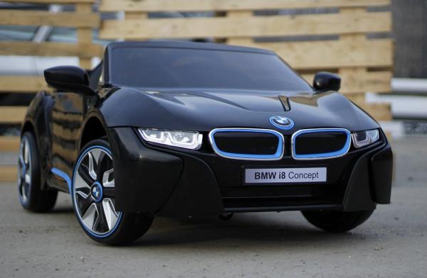Masinuta electrica pentru copii BMW i8, 2-7 ani, negru 2