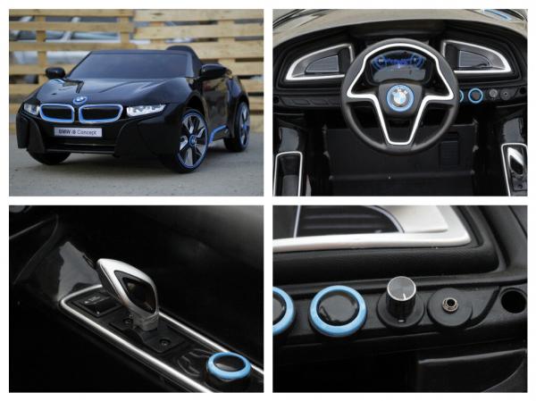 Masinuta electrica pentru copii BMW i8, 2-7 ani, negru 6