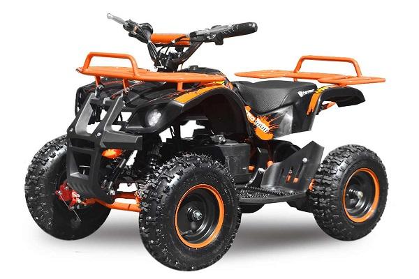 Mini ATV Electric Eco Torino Deluxe 1000W 48V cu 3 Trepte de Viteza #Portocaliu 0