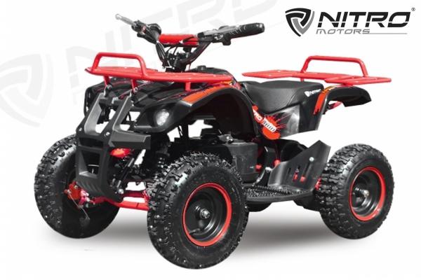 Mini ATV electric NITRO Torino Deluxe Quad 800W 36V #Rosu 1