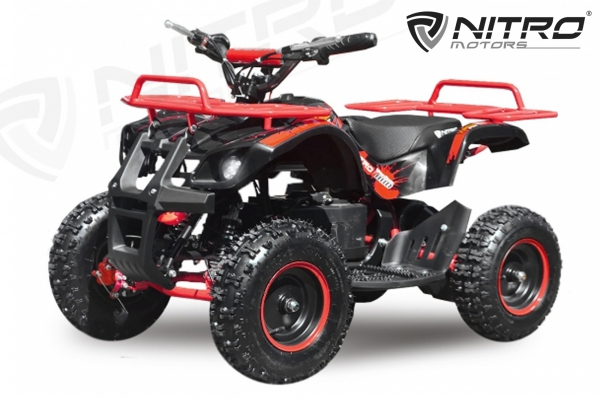 Mini ATV electric NITRO Torino Quad 1000W 36V LITHIU-ION# Rosu 1