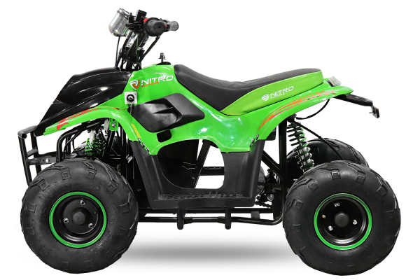 ATV electric ECO Bigfoot 800W 36V cu Baterie Detasabila SI FAR cu LED #Verde [4]