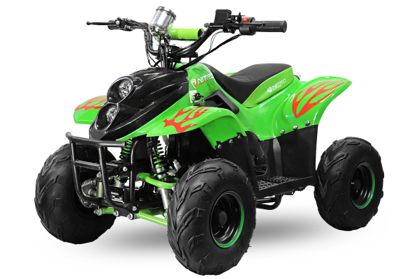 ATV electric ECO Bigfoot 800W 36V cu Baterie Detasabila SI FAR cu LED #Verde [0]